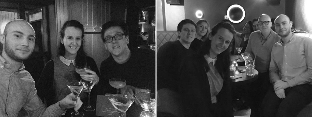 TDL team out for drinks